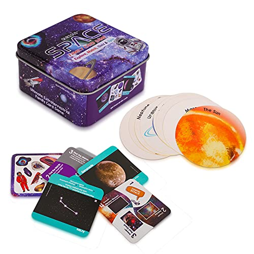 Qurious Space | STEM Flash Card Game | (Best Budget Educational Toy)