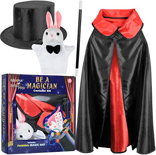 Click N' Play Magician Pretend Play Dress Up Set with Accessories