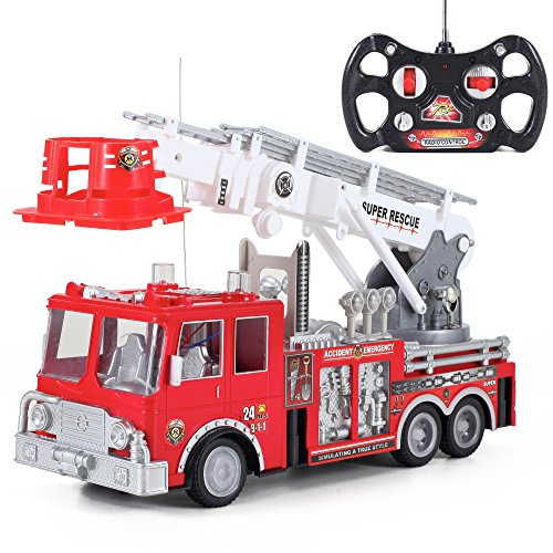 Liberty Imports 13in. RC Rescue Fire Engine Truck