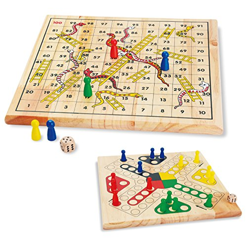 Wooden Classics Snakes and Ladders Board Game