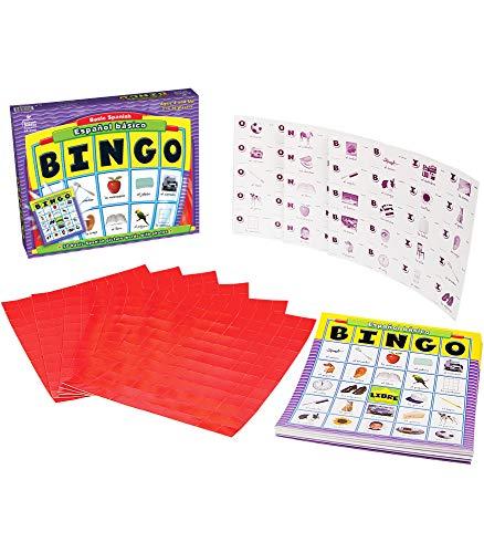 Basic Spanish Español Básico Bingo Learning Board Game