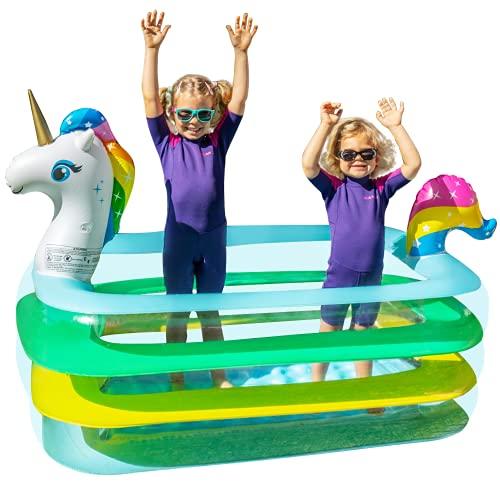 BATURU Unicorn Kiddie Pool for Toddlers
