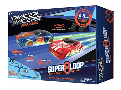 Tracer Racers Second Generation Super 8 Speedway Glow Track Set (Best Quality Option)