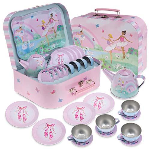 Pretend Toy Tin Tea Set