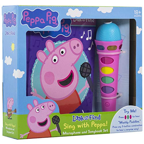 Peppa Pig - Sing with Peppa! Microphone Toy and Look and Find Sound Activity Book Set