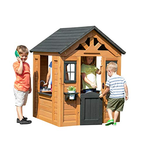 Backyard Discovery Sweetwater All Cedar Wooden Playhouse - Best Eco-Friendly Option