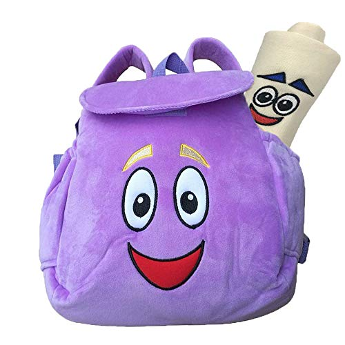 Dora Backpack,Purple Dora Explorer Soft Plush Backpack