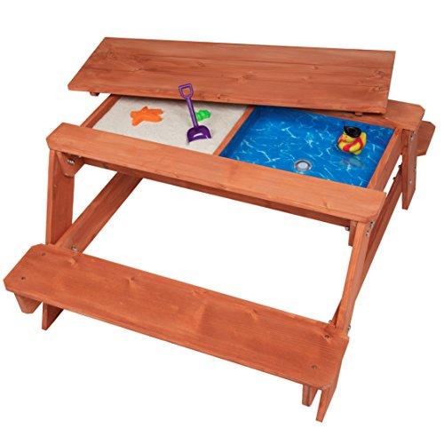 Svan Kid's All in One Convertible Indoor/Outdoor Picnic, Sand & Water Table