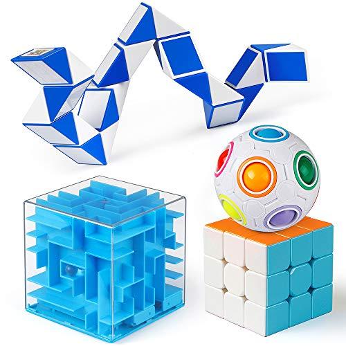Coogam Fidget Cubes Brain Teaser Puzzle Toys