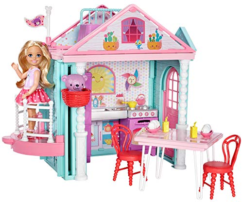 Barbie Club Chelsea Two-Story Playhouse Playset and Teddy Bear