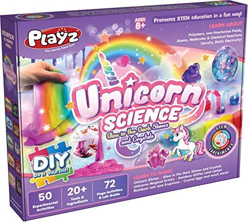 Playz Unicorn Slime & Crystals Science Kit