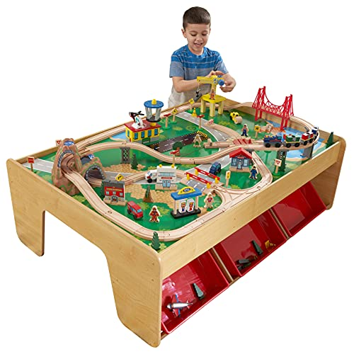 KidKraft Waterfall Mountain Train Set and Table (Best Quality Option)