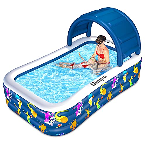 Inflatable Swimming Pool with Canopy