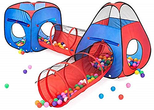 Kiddzery 4pc Kids Play tent Pop Up Ball Pit