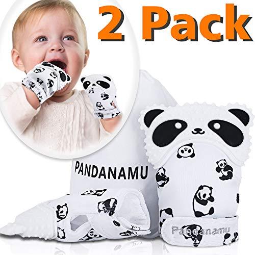 Baby Teething Mitten Panda Shape