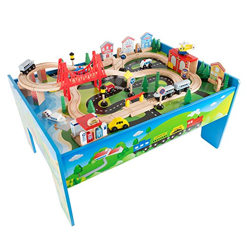 Hey! Play! Wooden Train Set Table (Best Budget Option)