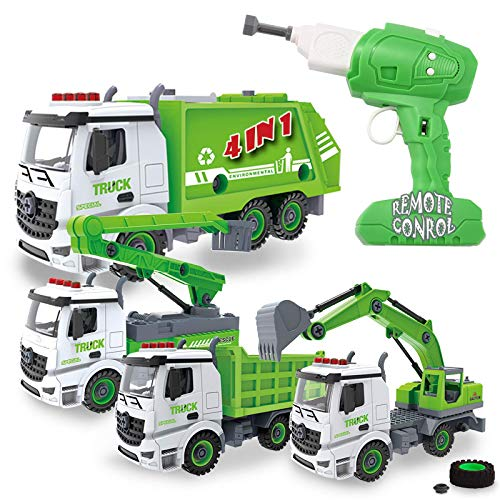 4-in-1 Take Apart Toys with Electric Drill