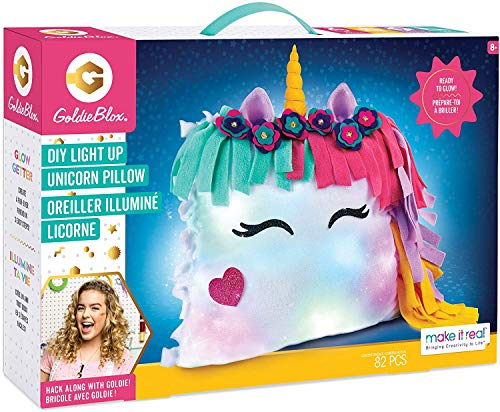 Make It Real GoldieBlox – DIY Glowing Unicorn Pillow