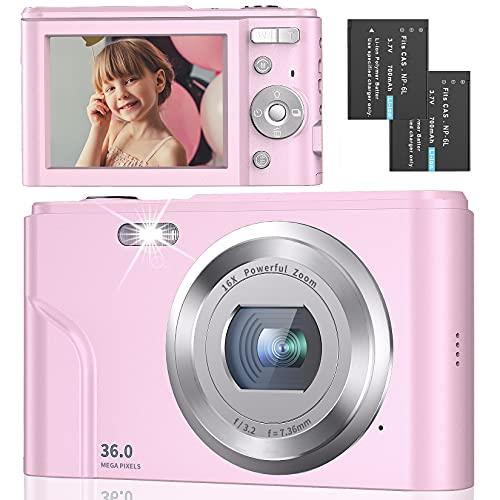 Digital Camera Full HD 1080P 36MP 2.4 Inch Vlogging Camera with 16X Digital Zoom
