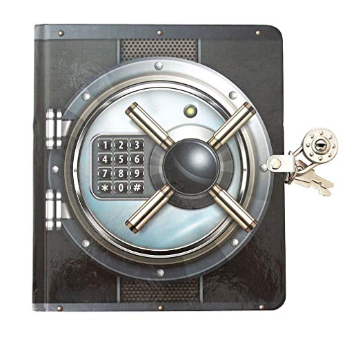 Playhouse Vault Door Lock & Key Lined Page Diary