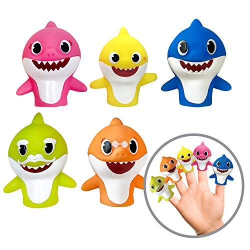 Ginsey Finger Puppets, Baby Shark (Pack of 5) (Best Budget Option)