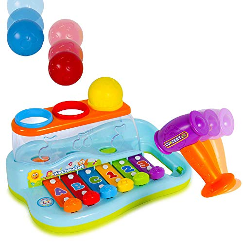 Rainbow Xylophone Baby Piano Pound and Tap Bench