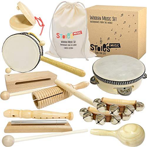 Stoie's International Wooden Music Set (Best Eco-Friendly Option)