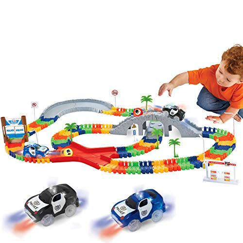 Liberty Imports 142 Pieces Create a Road Super Snap Speedway