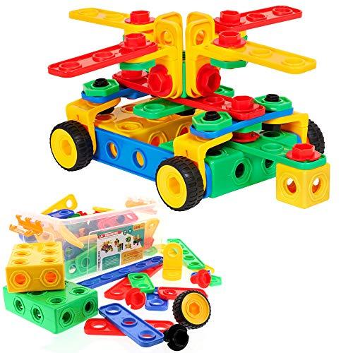 ETI Toys | STEM Learning | Original 101 Piece Educational Construction Engineering Building Blocks Set