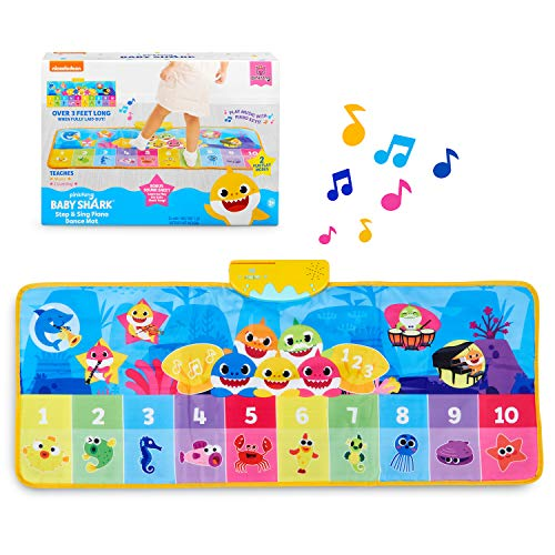 WowWee Pinkfong Baby Shark Official Step & Sing Piano Dance Mat