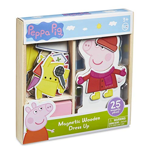 Peppa Pig Magnetic Wood Dress Up Puzzle (25 Piece) (Best Eco-Friendly Option)