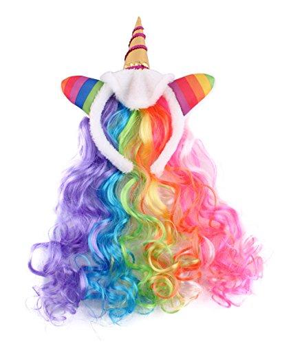 Felizhouse Rainbow Unicorn Wig