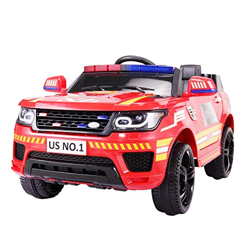 TOBBI 12V Kids Ride-On Toys Police Car