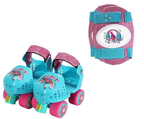 Playwheels Trolls Roller Skates with Knee Pads