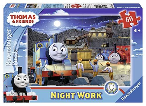 Ravensburger Thomas & Friends Night Work Glow-in-The-Dark 60 Piece Jigsaw