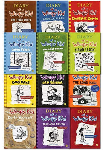 Diary Of A Wimpy Kid Collection (12 Books Set By Jeff Kinney)