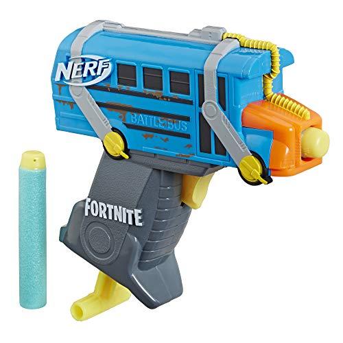 NERF Fortnite Micro Battle Bus Microshots Dart-Firing Toy Blaster