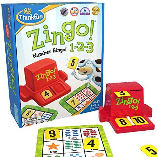 ThinkFun Zingo 1-2-3 Number Bingo Game