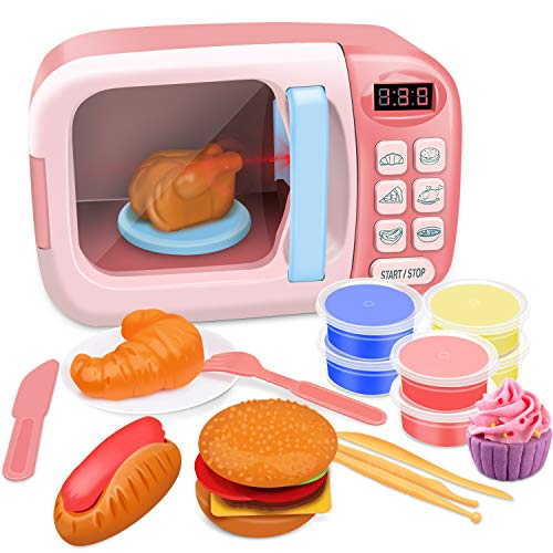 GrowthPic Kitchen Toy Microwave (Best Compact Option)