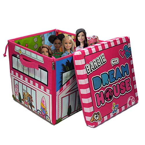 Barbie ZipBin 40 Doll Dream House Toy Box and Playmat (Best Budget Option)
