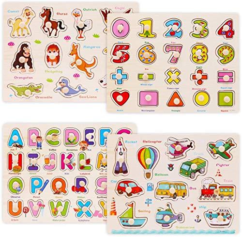 WOOD CITY Alphabet & Number Puzzles