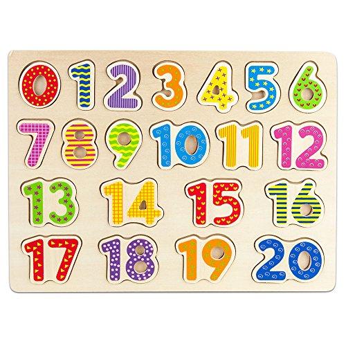 Professor Poplar's Wooden Numbers