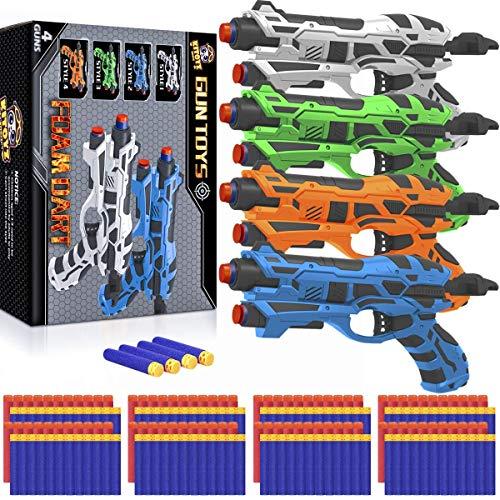4 Pack Blaster Guns Toy Darts Gun