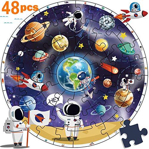 iPlay, iLearn Wooden Solar System Jigsaw Puzzles