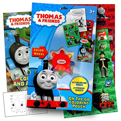 Thomas The Train On The Go Coloring Activity Set with Stickers