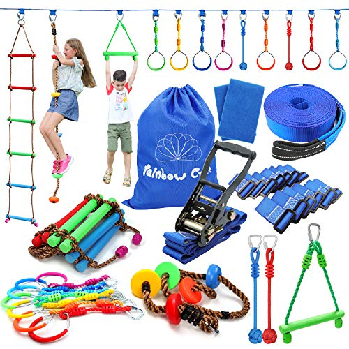 Rainbow Craft 50ft Ninja Warrior Obstacle Course for Kids