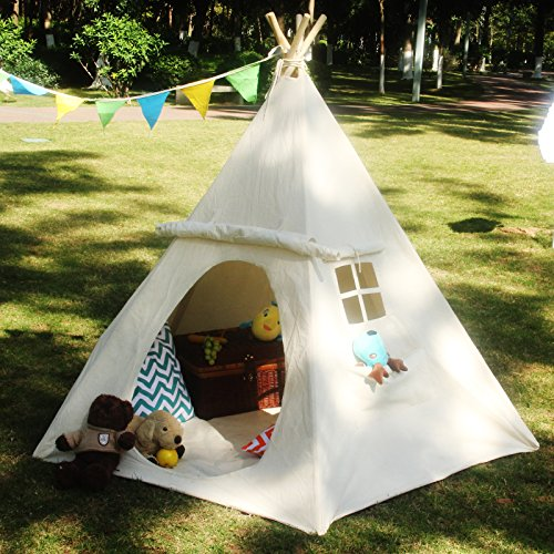 LAVIEVERT Children Playhouse Huge Indian Canvas Teepee