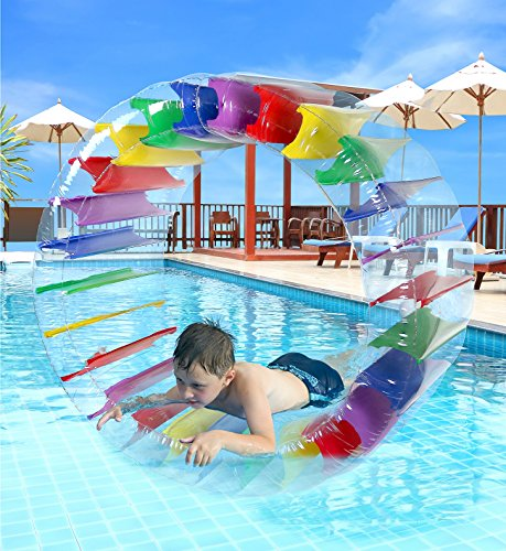 Greenco Kids Colorful Inflatable Water Wheel