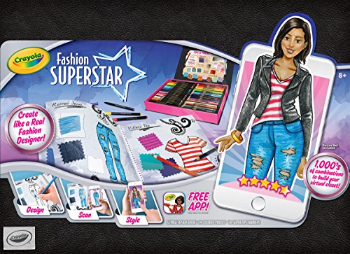 Crayola Fashion Superstar, Coloring Book, and App