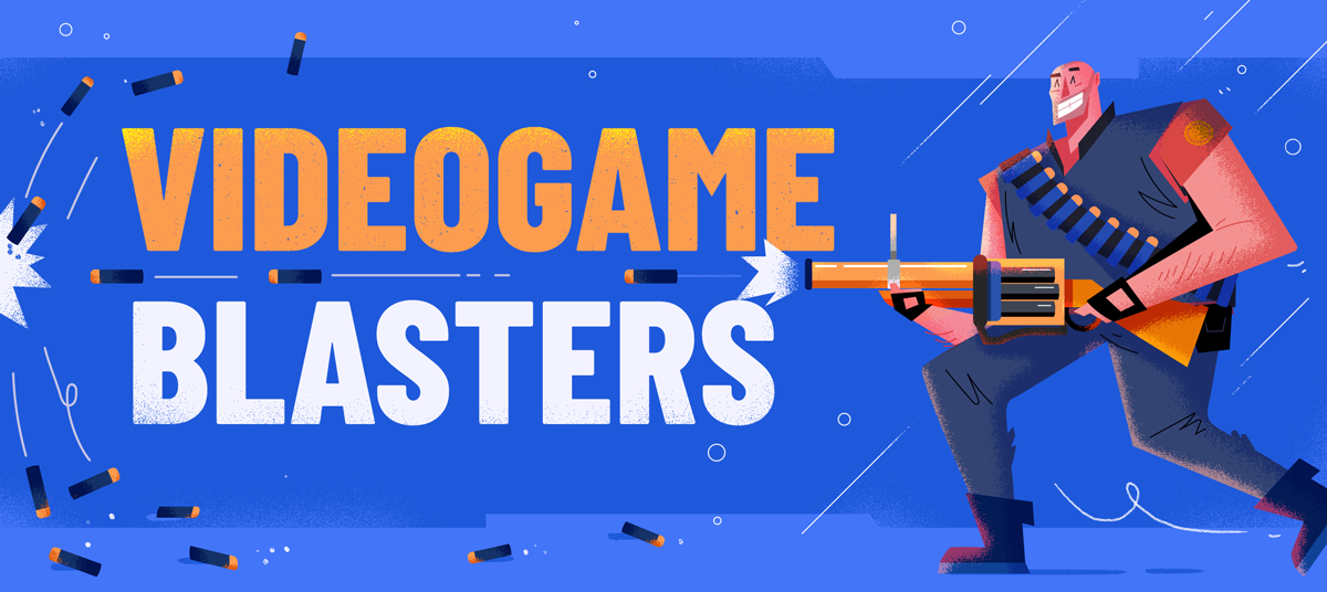 Header Iconic Video Game Weapons Reimagined as Nerf Guns